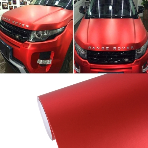 Buy 7.5m * 0.5m Ice Blue Metallic Matte Icy Ice Car Decal Wrap Auto Wrapping Vehicle Sticker Motorcycle Sheet Tint Vinyl Air Bubble, Red for $16.14 in SUNSKY store