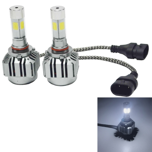 Buy 2 PCS WEIYAO V8 9006 36W 4800LM 6000K White Light Car 4 COB LEDs Headlight Kit, DC 12-24V for $22.59 in SUNSKY store