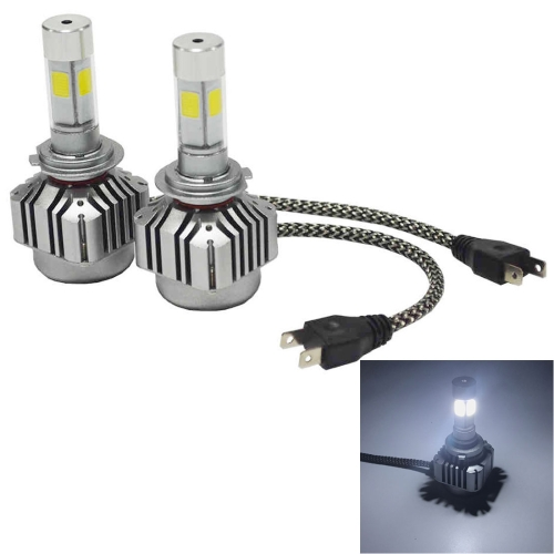 Buy 2 PCS WEIYAO V8 H7 36W 4800LM 6000K White Light Car 4 COB LEDs Headlight Kit, DC 12-24V for $22.59 in SUNSKY store