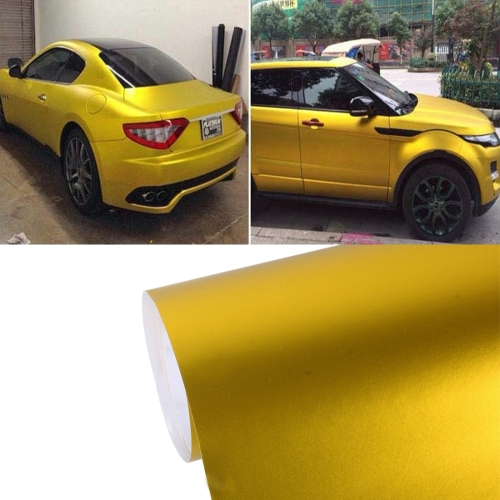 Buy 8m * 0.5m Ice Blue Metallic Matte Icy Ice Car Decal Wrap Auto Wrapping Vehicle Sticker Motorcycle Sheet Tint Vinyl Air Bubble Sticker, Gold for $18.19 in SUNSKY store