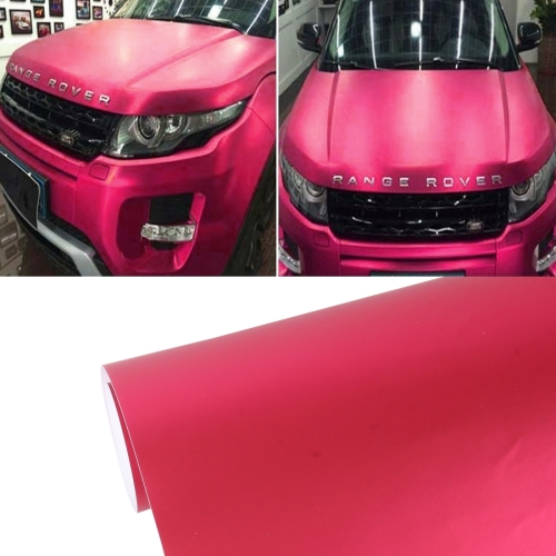 Buy 8m * 0.5m Ice Blue Metallic Matte Icy Ice Car Decal Wrap Auto Wrapping Vehicle Sticker Motorcycle Sheet Tint Vinyl Air Bubble Sticker (Wine Red) for $18.19 in SUNSKY store