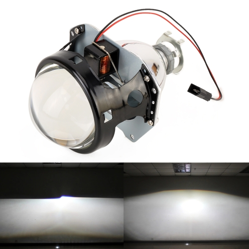 IPHCAR H1 3.0 inch Car Double Light Bi-Xenon Projector Lens Headlight without Light Bulb for Left Driving