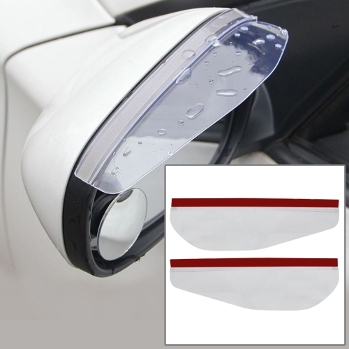 Buy 1 Pair Car Rearview Mirror Rain Blades Car Back Mirror Eyebrow Rain Cover Car Rearview Mirror Eyebrow Covers Flexible Protection Rainproof Decoration Accessories, Transparent for $1.27 in SUNSKY store