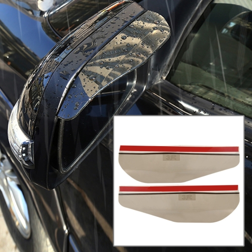 Buy 1 Pair Car Rearview Mirror Rain Blades Car Back Mirror Eyebrow Rain Cover Car Rearview Mirror Eyebrow Covers Flexible Protection Rainproof Decoration Accessories, Brown for $1.27 in SUNSKY store