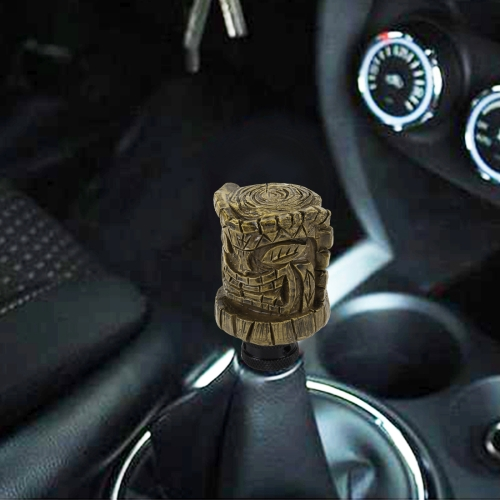 Buy Universal Wood Avatar Shape Car Gear Shift Knob Modified Car Gear Shift Knob Auto Transmission Shift Lever Knob Resin Gear Knobs for $12.20 in SUNSKY store
