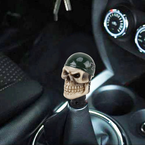 Buy Universal Skull With A Hat Shape Car Gear Shift Knob Modified Car Gear Shift Knob Auto Transmission Shift Lever Knob Resin Gear Knobs for $9.32 in SUNSKY store