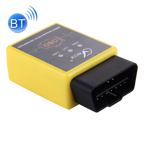 Buy Viecar VC002-A Mini OBDII ELM327 Bluetooth Car Scanner Diagnostic Tool, Support Android / Symbian / Windows, Yellow for $4.43 in SUNSKY store