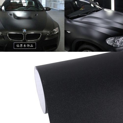 Buy 7.5m * 0.5m Grind Arenaceous Auto Car Sticker Pearl Frosted Flashing Body Changing Color Film for Car Modification and Decoration, Black for $12.43 in SUNSKY store