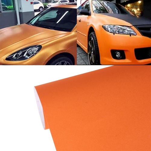 Buy 7.5m * 0.5m Grind Arenaceous Auto Car Sticker Pearl Frosted Flashing Body Changing Color Film for Car Modification and Decoration, Orange for $12.43 in SUNSKY store