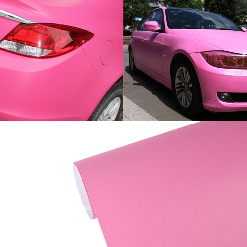 Buy 7.5m * 0.5m Grind Arenaceous Auto Car Sticker Pearl Frosted Flashing Body Changing Color Film for Car Modification and Decoration, Pink for $12.43 in SUNSKY store