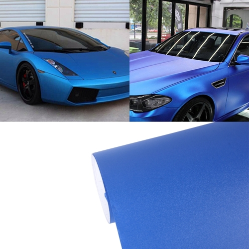Buy 7.5m * 0.5m Grind Arenaceous Auto Car Sticker Pearl Frosted Flashing Body Changing Color Film for Car Modification and Decoration, Blue for $12.43 in SUNSKY store