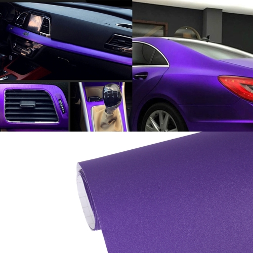 Buy 7.5m * 0.5m Grind Arenaceous Auto Car Sticker Pearl Frosted Flashing Body Changing Color Film for Car Modification and Decoration, Purple for $12.43 in SUNSKY store