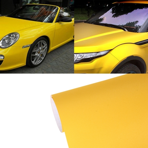 Buy 7.5m * 0.5m Grind Arenaceous Auto Car Sticker Pearl Frosted Flashing Body Changing Color Film for Car Modification and Decoration, Yellow for $12.43 in SUNSKY store