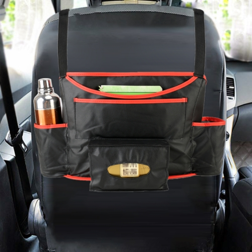 Buy Car Auto Back Seat Drink Food Cup Bag Napkin Bag Multi-purpose Pouch Chair Back Pocket Multi-functional Car Storage Bags for $9.24 in SUNSKY store