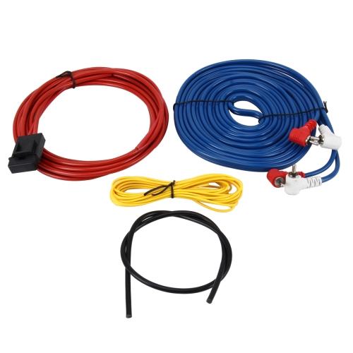 Buy Car Audio Speakers Wiring kits Speaker Cable Subwoofer Amplifier Installation Cable Kit Power Cable Car Speaker Power Amplifier Car Power Amplifier Car Audio Line + Power Line Suit for $2.66 in SUNSKY store