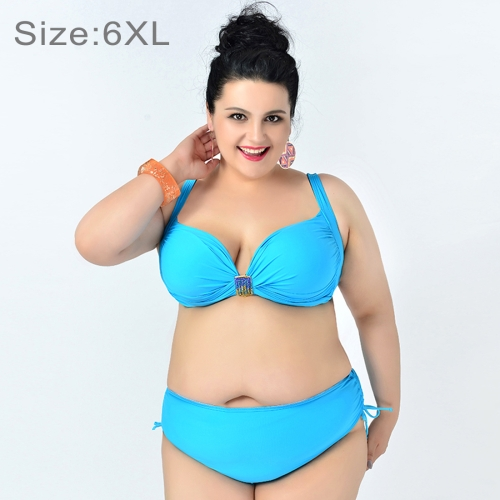 ae23612ee08a5 SUNSKY - Gather Chest Swimwear Solid Color Bikini Over-sized ...