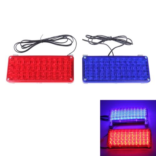 Buy 10W 44 LEDs Red Light + Blue Light Flashing Strobe Light Warning Light, DC 12V, Wire Length: 80cm for $8.24 in SUNSKY store