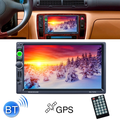 7157G Double Din 7 inch Touchscreen Car Radio Receiver MP5 Player, Support Rear View & AM FM RDS & Bluetooth & U-disk TF Card & GPS