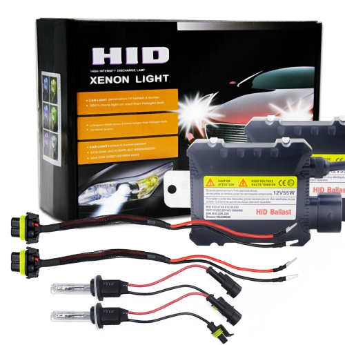 880//881 55W Slim HID Light Xenon Kit Conversion High Low Fog Light All Colors