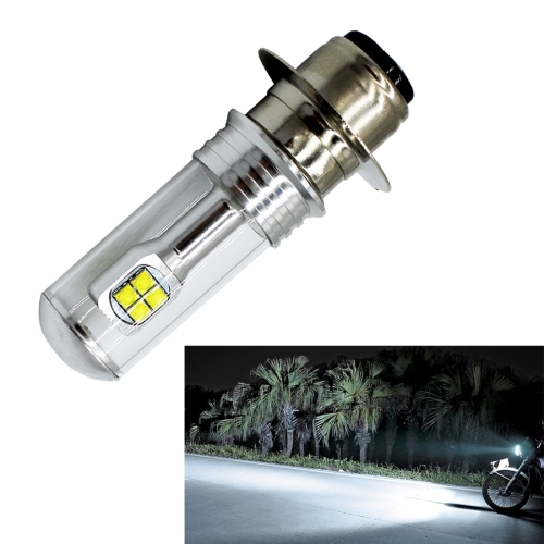 Motorcycle Headlights 750LM 6000K White H6M/P15D 40W 8-LED Bulbs, DC 12-24V carking 6w 750lm 6000k 45 smd 5050 led white car dome lights kit for 12 new fit new city