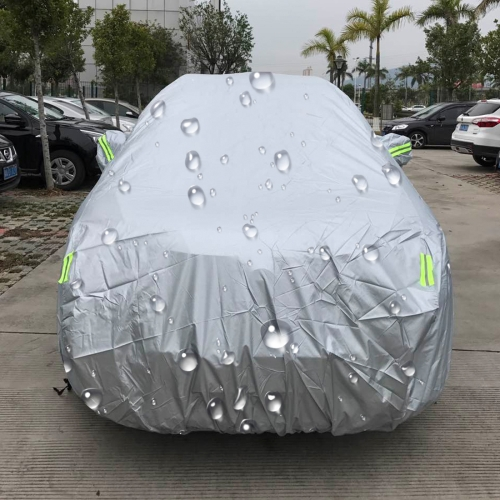 PEVA Anti-Dust Waterproof Sunproof SUV Car Cover with Warning Strips, Fits Cars up to 5.3m (207 inch) in Length