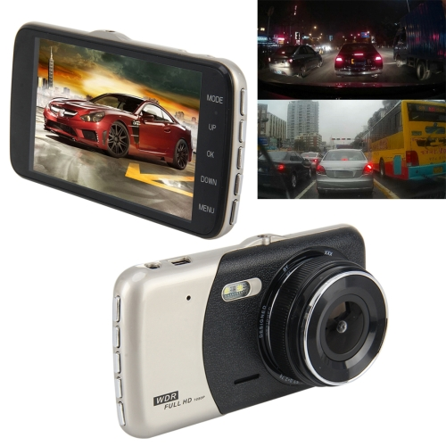 Buy 4 inch HD Video Recording HD Display Car Recorder with Separate F2.0 Camera, 12MP 170 Degrees Wide-angle/ Rear View Loop Recording/ G-Sensor Recording/ WDR Full HD/ Front Camera 1080P/ Rear Camera 720P/ Support 32G TF Card for $28.17 in SUNSKY store