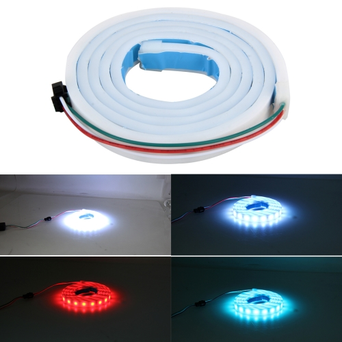 Buy 1.2m Car Auto Waterproof Universal Four Color Rear Flowing Light Tail Box Lights with Tail Light Controller, Ice Blue Light Driving Light, White Light Reversing Light, Red Light Brake Light, Yellow Light Turn Signal Light, LED Lamp Strip Tail Decoration for $11.35 in SUNSKY store