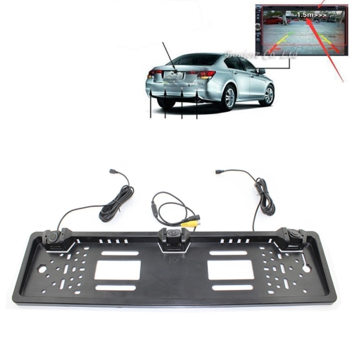 Buy PZ600-L Europe Car License Plate Frame Rear View Camera Visual Rear View Parking System with 2 Reversing Radar Detector for $20.55 in SUNSKY store