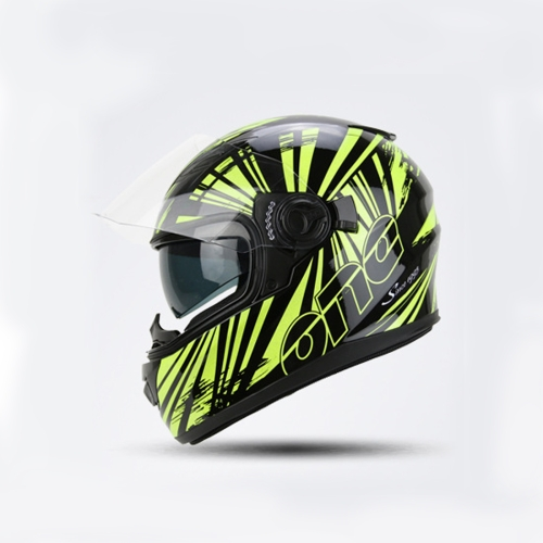 Motorcycle Full Face Riding Helmet Double Lens Motorcycle Men and Women Winter Keep Warm Helmets (Please note the size: S-XXL)