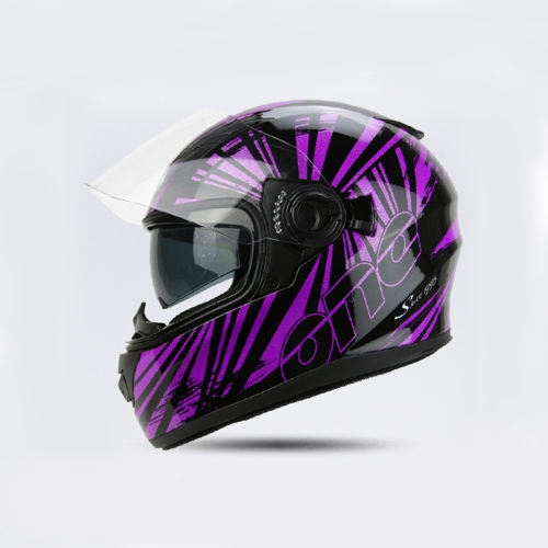 Buy Motorcycle Full Face Riding Helmet Double Lens Motorcycle Men and Women Winter Keep Warm Helmets (Please note the size: S-XXL) for $34.98 in SUNSKY store
