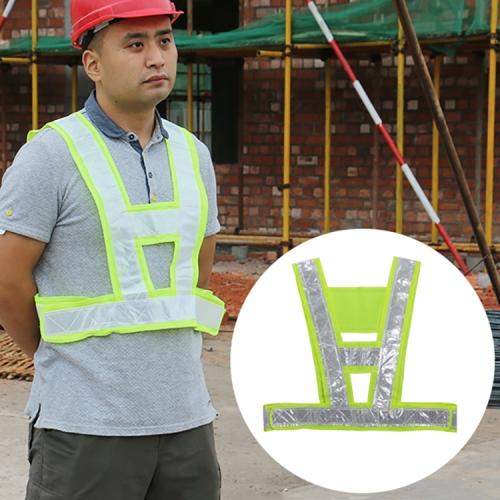 Buy Reflective Fluorescent Vest Driving School Construction Traffic Safty Warning Reflective Vest for $1.23 in SUNSKY store