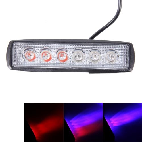 Buy 18W 6 Wafers Red Light + Blue Light Flashing Strobe Light Warning Light Working Light, DC 10-30V for $4.44 in SUNSKY store
