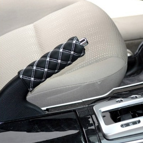 Buy 2 PCS Shift Knob Gear Stick Cushion Sets Cover Car Accessory Interior Decoration Pad, White for $1.20 in SUNSKY store