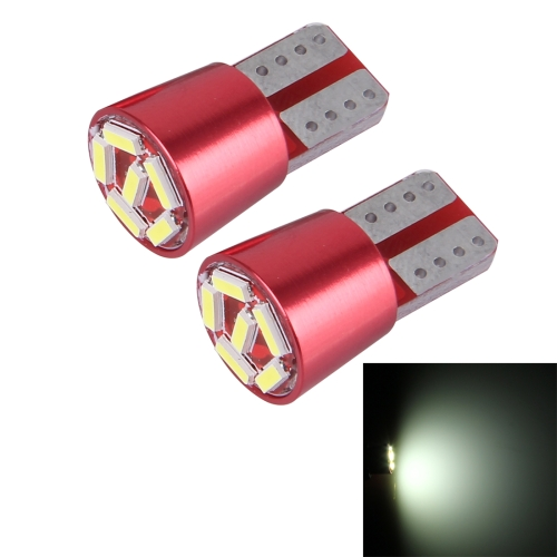 2 PCS T10 200lm 6000K 2W 6 SMD-4014 LEDs Car Clearance Light Lamp, DC 12V (White Light)