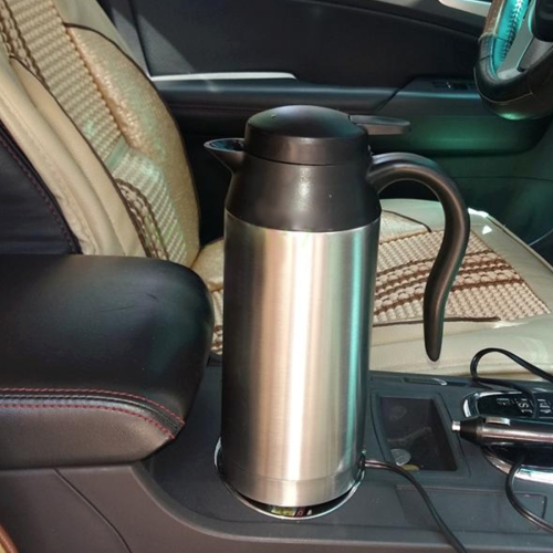 Buy HJ-18A Stainless Steel Electric Mug 750ml DC 12V Car Electric Kettle Heated Mug Car Coffee Cup With Charger Cigarette Lighter Heating Cup Kettle Insulated Water Heater Mug for $15.29 in SUNSKY store