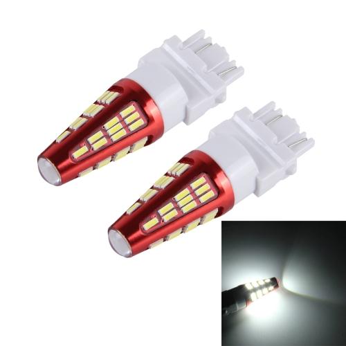 Buy 2 PCS 3157 10W 800LM 6000K 48 SMD-4014 LEDs Canbus Car Brake Light Lamp, DC 12V (White Light) for $6.36 in SUNSKY store