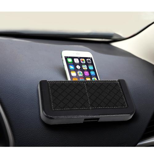 Buy Car Storage Bag Multi-use Tools Organizer Boxes Car Storage Box Bonded Phone Holder Paste Type Silicone Storage Net Bag, Size: 20*9cm, Black for $3.19 in SUNSKY store