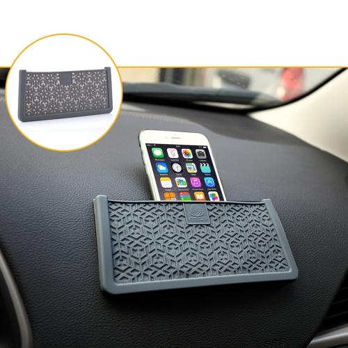 Buy Car Storage Bag Multi-use Tools Organizer Boxes Car Storage Box Bonded Phone Holder Paste Type Silicone Storage Net Bag, Size: 20*9cm, Grey for $3.19 in SUNSKY store
