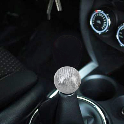 Buy Momo Universal Ball Shape Car Gear Shift Knob Modified Car Gear Shift Knob Auto Transmission Shift Lever Knob Carbon Lead Gear Knobs, Silver for $12.16 in SUNSKY store