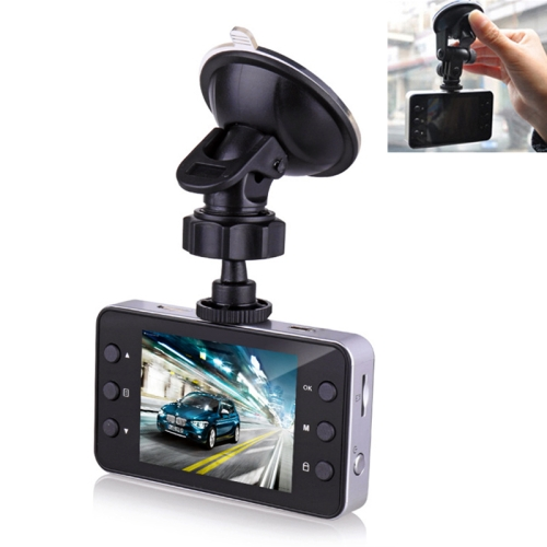 K6000 2.3 inch 120 Degrees Wide Angle Full HD 1080P Video Car DVR, Support TF Card (32GB Max) / Motion Detection, with 2 Night Vision Fill Lights