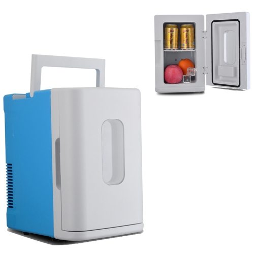 Buy Vehicle Auto 68W Max Portable Mini Cooler and Warmer 10L Refrigerator for Car and Home, Voltage: DC 12V/ AC 220V (Blue + White) for $37.67 in SUNSKY store