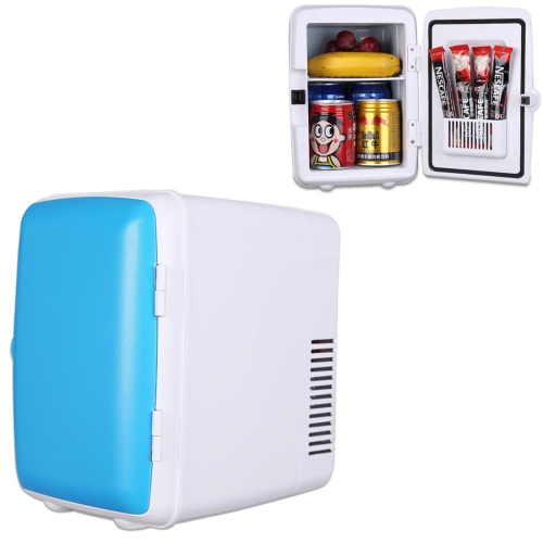 Buy Vehicle Auto Portable Mini Cooler and Warmer 4L Refrigerator for Car and Home, Voltage: DC 12V/ AC 220V, Blue for $24.70 in SUNSKY store