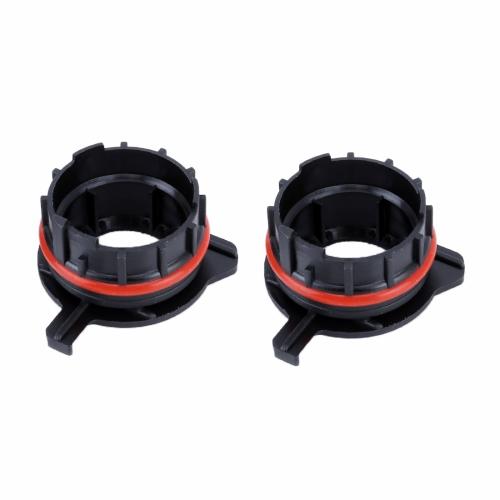 1 Pair TK-124 H7 LED Headlight Bulb Base Retainer Holder Adapter for BMW E39-1 / Benz SLK