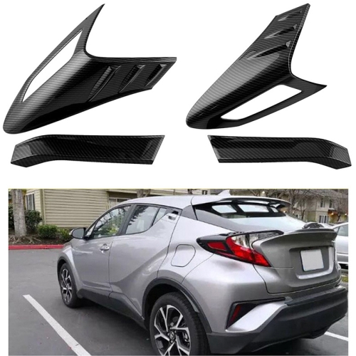 2 PCS Car Tail Light ABS + Carbon Fiber Mount Bracket Protect Cover Guards Rear Taillights Frame for Toyota CHR