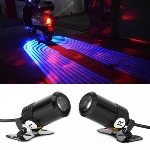 2 PCS DC 8-36V 3W Motorcycle LED Projection Lamp Light, Cable Length: 2.4m(Blue Light)