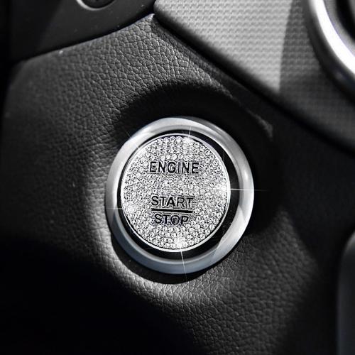 Car Engine Start Key Push Button Cover Trim Sticker Decoration for Mercedes-Benz
