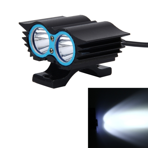 Buy Owl Shape 20W 2000 LM 6000K Motorcycle Headlight Lamp with 2 COB Lamps and LED Projector Lens, DC 12-80V (White Light) for $6.65 in SUNSKY store