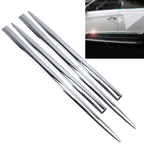 Buy 4 PCS Car Auto Door Side Edge Metal Anti-scratch Body Guard Protection Strip Sticker for $11.82 in SUNSKY store