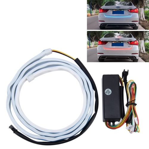 Buy 1.2m Car Auto Waterproof Universal Rear Ice Blue Tail Box Lights Brake Light Red Light Turn Signal Flowing Light LED Lamp Strip Tail Decoration for $15.68 in SUNSKY store