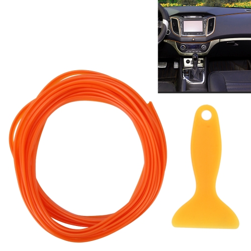 Buy 5m Flexible Trim For DIY Automobile Car Interior Moulding Trim Decorative Line Strip with Film Scraper, Orange for $1.61 in SUNSKY store